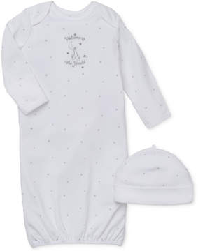Little Me Baby Boys' or Baby Girls' 2-Piece Welcome World Hat & Gown Set