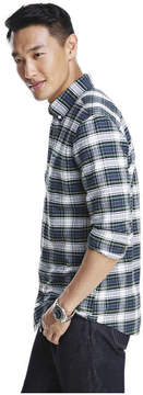 Joe Fresh Men's Plaid Oxford Shirt, JF Jag Green (Size XL)