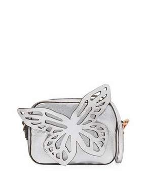 Sophia Webster Flossy Butterfly Metallic Leather Crossbody Camera Bag