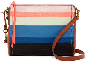 Fossil Emma Stripe Leather Crossbody Bag