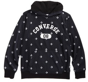 Converse Boy's All-Over Logo Pullover Hoodie