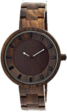 Earth Branch Collection ETHEW2802 Unisex Wood Watch with Wood Bracelet-Style Band