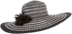 Nine West Womens Super Floppy Flower Striped Hat