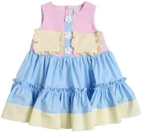 Simonetta Color Block Cotton Poplin Dress