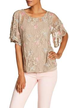 Democracy Embroidered Lace Top