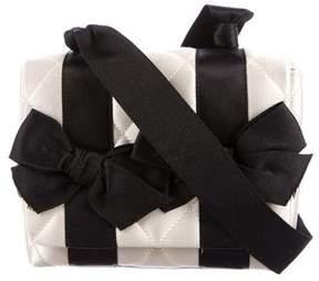 Chanel Vintage Satin Bow Evening Bag