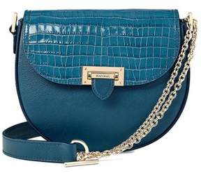 Aspinal of London Portobello Bag In Topaz Kaviar Deep Shine Small Croc