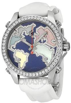 Jacob & co Jacob and Company Five Time Zone Diamond-Accented Blue Dial Unisex Watch