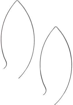 Carole Silvertone Open Teardrop Threader Earrings