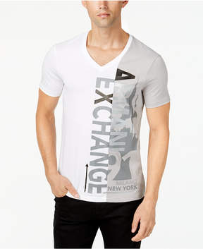 Armani Exchange Men's Split Graphic-Print T-Shirt