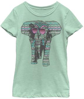 Fifth Sun Mint Elephant Shades Tee - Girls