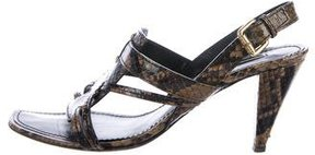 Louis Vuitton Multistrap Embossed Leather Sandals