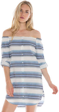 Bella Dahl Off Shoulder Dress-Still Water-XS
