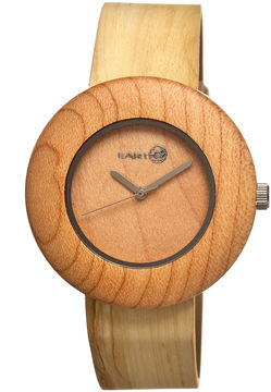 Earth Wood Ligna Yellow Leather-Band Watch Ethew1401