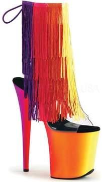 Pleaser USA Rainbow 1017TF-8 Fringed Open-Toe Bootie (Women's)
