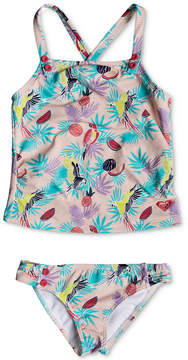 Roxy 2-Pc. Tropical Parrots Tankini Swimsuit, Little Girls