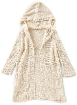 Copper Key Little Girls 4-6X Textured Hoodie Cardigan Sweater