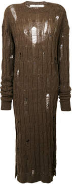 Damir Doma distressed cable knit dress