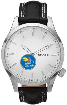 Icon Eyewear Sparo Watch - Men's Kansas Jayhawks Leather
