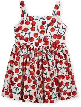 Milly Minis Emaline Cherry-Print Dress, Size 8-16