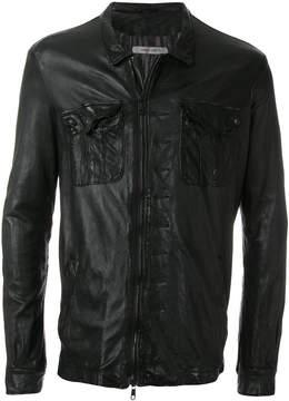 Giorgio Brato asymmetric leather jacket