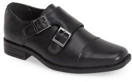 Steve Madden Boy's Double Monk Strap Shoe