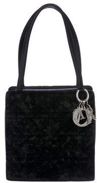 Christian Dior Velvet Cannage Handle Bag