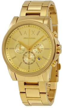 Armani Exchange Champagne Dial Chronograph Men's Watch