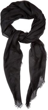 Valentino Camouflage-print cashmere-blend scarf