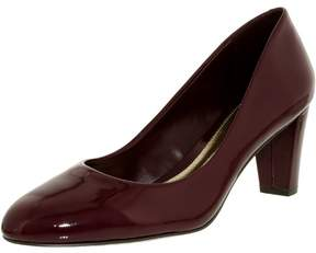 Lauren Ralph Lauren Women's Hala-Pm-Drs Leather Claret Ankle-High Leather Pump - 10M