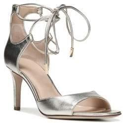 Diane von Furstenberg Rimini Leather Wrap Strap Sandals