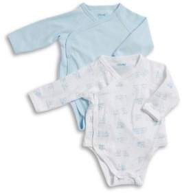 Little Me Baby Boy's Two-Pack Puppy Print Bodysuit Set