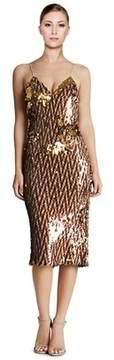 Dress the Population Nina Sequined Slip Dress.