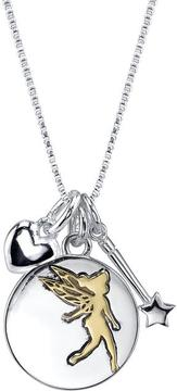Disney Two-Tone 10K Gold and Silver Dreams Are Forever Tinker Bell Pendant