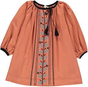 Caramel Lydford Embroidered Dress