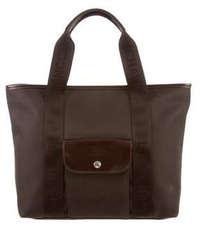 Longchamp Leather-Trimmed Nylon Tote