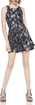 BCBGeneration Mixed Floral Tie-Front Romper