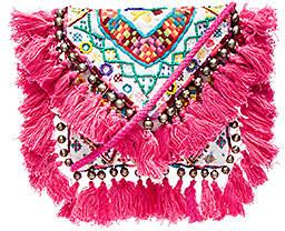 SHASHI Tatiana Clutch in Pink.