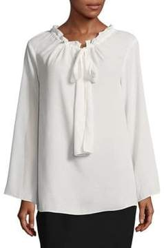 Ellen Tracy Ruffled Loose Blouse