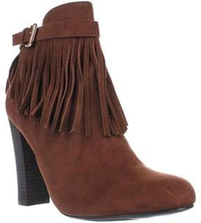 Material Girl Mg35 Persia Fringe Ankle Boots, Cognac.