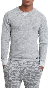 Kenneth Cole New York Long Sleeve Pinstripe Crewneck Shirt - Men's