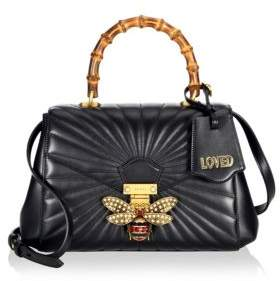Gucci Queen Margaret Quilted Leather Top Handle Bag - BLACK - STYLE