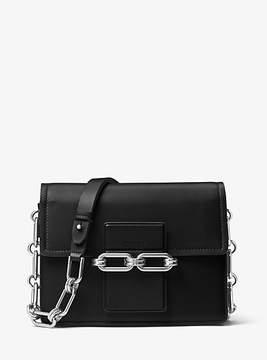 Michael Kors Cate Medium French Calf Shoulder Bag - BLACK - STYLE