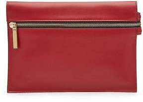 Victoria Beckham Mini Zipped Leather Clutch