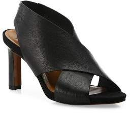 Aquatalia Bayleigh Crisscross Leather Sandals