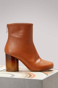 Maison Margiela Round Heel Leather Ankle Boots
