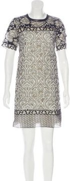 Andrew Gn Embroidered Shift Dress