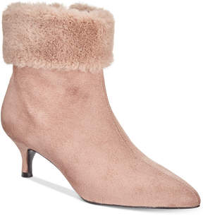 Impo Esra Faux-Fur Cuff Pointed-Toe Booties Women's Shoes