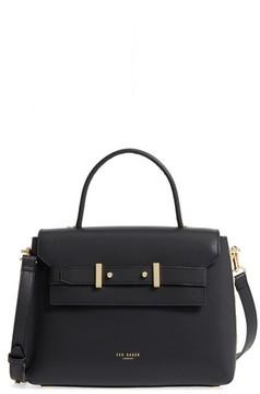 Ted Baker Taymar - Studded Edge Lady Bag Leather Top Handle Satchel - Black