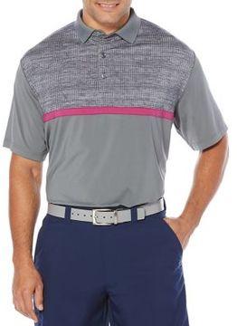 Callaway Opti-Dri Textured Colorblock Short Sleeve Polo Golf Shirt